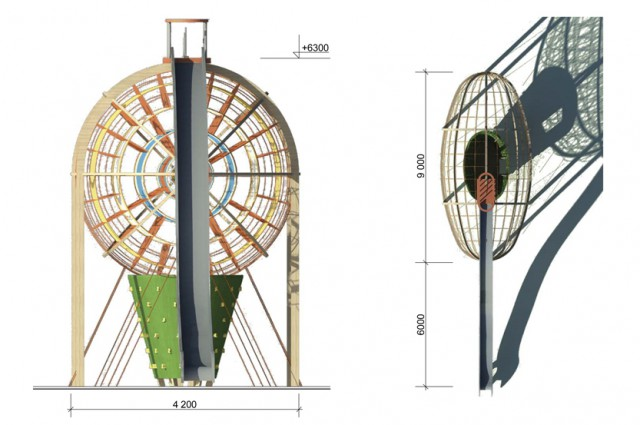 Дирижабль — дворовый канатный парк