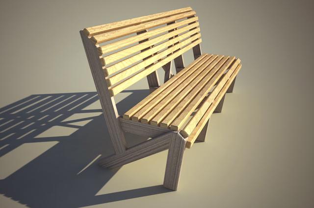 Городская скамья — элегантная и надежная