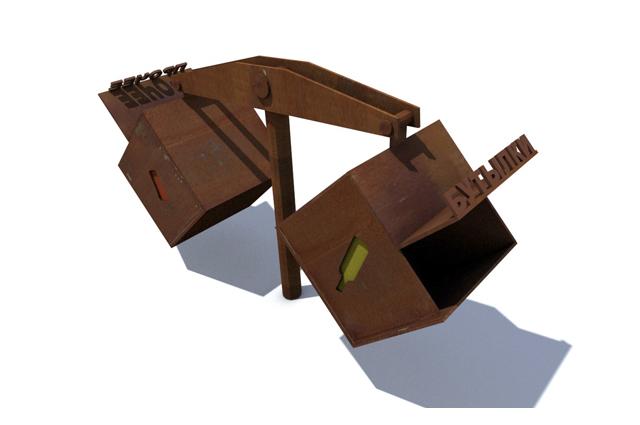 Ржавый комплект — оригинальные скамейки